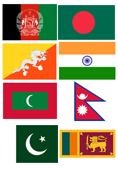 File:South Asia Flags.png