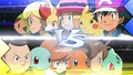 XY042 Team Froakie VS Team Squirtle.png