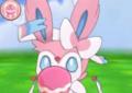 XY Prerelease Pokémon-Amie Sylveon feeding.png