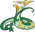 497Serperior BW anime.png