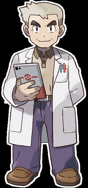 File:Lets Go Pikachu Eevee Professor Oak.png