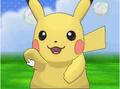 XY Prerelease Pokémon-Amie Pikachu high five.png