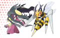 Mega Mawile and Beedrill.png