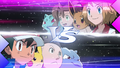 XY090 Serena and Shauna VS Ash and Tierno.png