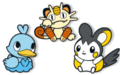 Emolga Ducklett Meowth Pokémon Doll avatars.png