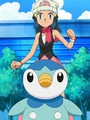 Dawn Piplup practicing.png