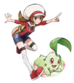 Lyra and Chikorita artwork.png