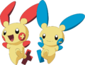 311Plusle and 312Minun anime.png