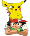 Ash With Pikachu On Head.png