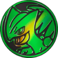 CES Green Sceptile Coin.png